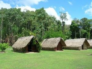 De huisjes op Kwai-Kwai eiland