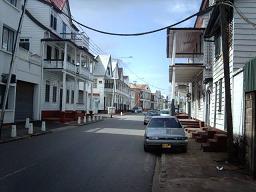 Straat in Paramaribo