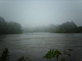 Mist op de Surinamerivier