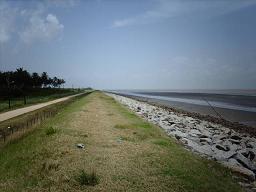 De Zeedijk in Nickerie.